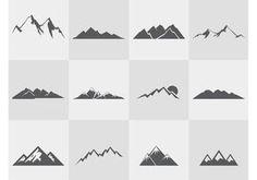 Mountain-silhouettes-vector-set                                                                                                                                                                                 Más