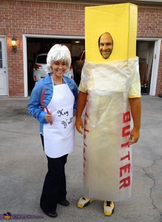 Paula Deen and her Butter - DIY Couples Halloween Costume