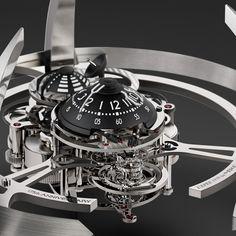 MB&F Starfleet Machine – L'EPEE 1839 Starfleet Machine: it's a table clock, Jim, but not as we know it! In the image of Star Trek's Captain James T. Kirk, one of his childhood heroes, Maximilian Büsser set out to explore strange new (horological) worlds when he developed the concept for Starfleet Machine with ECAL design graduate Xin Wang (See more at En/Fr/Es: http://watchmobile7.com/articles/mbf-starfleet-machine-l-epee-1839) #watches #montres #relojes #mbandf