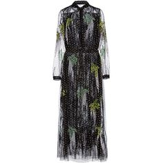 Adam Lippes Metallic Embroidered Gown ($8,200) ❤ liked on Polyvore featuring dresses, gowns, midi dress, long sleeve evening dresses, metallic gown, long-sleeve midi dresses and long sleeve evening gowns