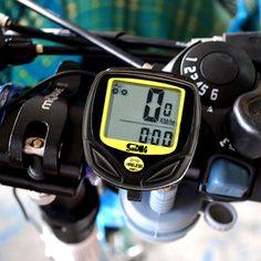 2017 자전거 자전거 자전거 컴퓨터 무선 14 기능 속도계 주행 미터 Velocimetro LCD 백라이트 자전거 컴퓨터