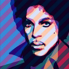 #RIP - #Prince Rogers Nelson (born June 7, 1958 - April 21, 2016). Art by Troy Gua, The Artists 2.0 #Prince, Digital print and resin, 48 x 48 in. Seattle Art Museum.