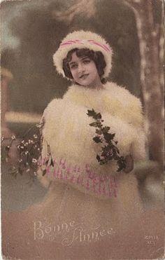 Cartes postales anciennes: bonne année