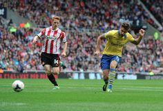 Olivier Giroud scores the first goal. Sunderland 1-3 Arsenal (September 2013) by Stuart MacFarlane