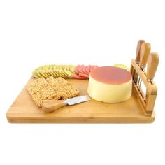 Bamboo Cheese Board And Knife Set With 4 Stainless Steel Knives - Buy Bamboo Cheese Cutting Board With Slate Product on Alibaba.com