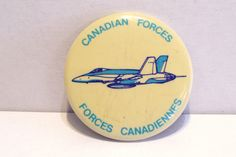 Post WW2 Canadian Forces Canadiennes Canada Pinback Pin Button Bomber Vintage by okanaganvintage on Etsy