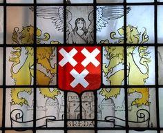 Glas-in-lood met het wapen van de stad Breda