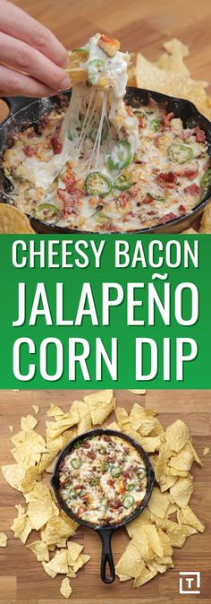 What's better than queso, you ask? How about queso that highlights crispy bacon, fresh jalapeños, roasted corn, basil, and the ultimate cheese trifecta: shredded mozzarella, Parmesan, and cream cheese? This creative concoction from Food Steez has everything we want out of snack: an easy, painless recipe, and a slew of bold flavors in every bite. Chips and dip are a staple of any party table spread, and this shareable appetizer is no exception.