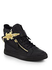 9b9aa6dd8be46 Giuseppe Zanotti - Alligator High-Top Sneakers Giuseppe Zanotti Mens Shoes,  Zanotti Heels,
