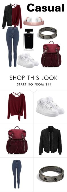 """""""Casual"""" by francesca0808 ❤ liked on Polyvore featuring NIKE, M Z Wallace, LE3NO, Topshop and Narciso Rodriguez"""