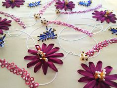 Designs — Atelier Silvia Perramon Green Silk, Pink Silk, Blue Lace, Silk Organza, Silk Ribbon, Embroidery Fashion, Beaded Embroidery, Black Flowers, Pink Flowers