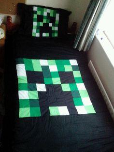 Minecraft Creeper Duvet Cover & Pillow Case, Single, Bedding, Blanket
