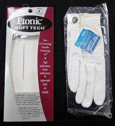 Etonic Soft Tech Air Tech Right Hand Leather Golf Glove Mens Small NWT #Etonic Gloves, Golf, Leather, Men, Technology, Guys, Mittens