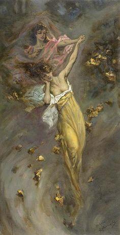 "Vasily Alexandrovich Kotarbinsky, (Russian,1849-1921), ""The Dance of Leaves"" | Flickr - Photo Sharing!"