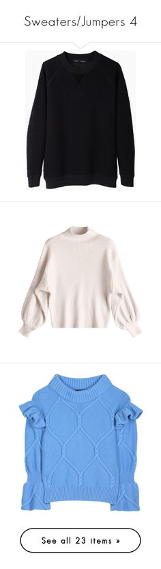 """Sweaters/Jumpers 4"" by lashanna-bing ❤ liked on Polyvore featuring tops, hoodies, sweatshirts, sweaters, raglan top, crew top, crewneck sweatshirt, raglan crewneck sweatshirt, crew neck sweatshirts and zaful"