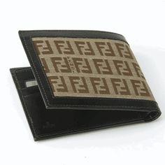 Fendi Zucchino Bifold Wallet Brown | Fendi Mens Accessories | Queen Bee of Beverly Hills - Fendi Wallets