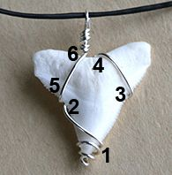 Wire-wrapping technique for a triangle - shark's tooth  #handmade #jewelry