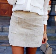 love the pockets on the blouse and skirt
