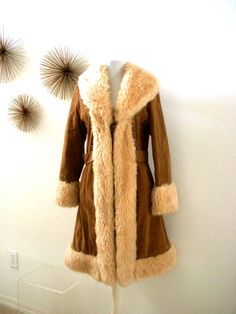 Vintage 70s Boho Faux Sherpa Coat  1970s Gypsy by OmAgainVintage