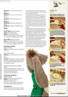 Knitting Books, Knitting Stitches, Baby Knitting, Rabbit Toys, Bunny Toys, Handmade Dolls Patterns, Knit Crochet, Crochet Hats, Simply Knitting