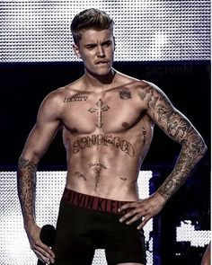 Justin Bieber Yourself, Call Justin Bieber, Cool Chest Tattoos, Design Tattoos, Male Celebrities, Man Style, Man Crush, Feminine Style, Boxers