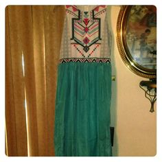 Size Small Printed Aztec Dress