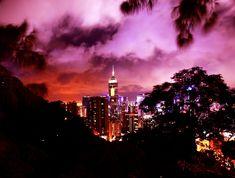 Hong Kong's Ruby City at Night Prints - 12 x 18 / B&W