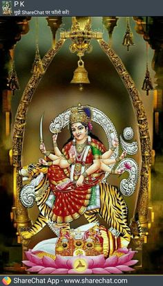 Durga Ji, Durga Goddess, Maa Durga Image, Ambe Maa, Kali Hindu, Durga Images, Home Temple, Shiva Shakti, Hindus