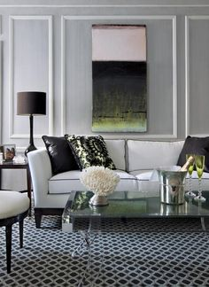 I have wall moulding in my living room similar to this...working on a plan to repaint walls and refinish hardwood floors.  Key is a new color scheme.