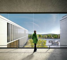Architectural Rendering, Renderings for the architectural competition of the new French school in Mallorca