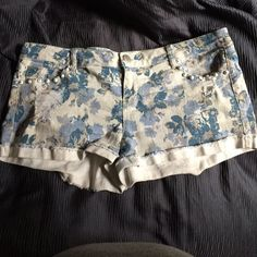 Floral jean shorts Stretchy and comfy Vanity Shorts Jean Shorts