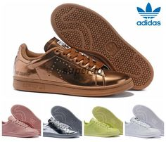 Raf Simons X Adidas Originals Stan Smith 2015 Copper White Black Pink  Running Shoes Sneakers Classic