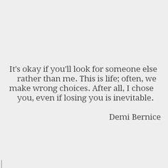 losing you is inevitable