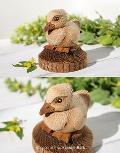Wooden Duck Statue Etsy - $85 Wood carving, Wooden Duckling, 5th Anniversary, Hand Carved Bird, Duck figurine, Wood Sculpture, Unic Gift, Wooden Art