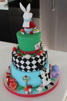Alice in wonderland back of cake