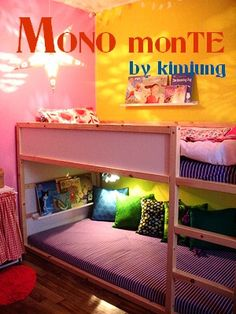 Converting Violet's similar loft bed into a little reading area.