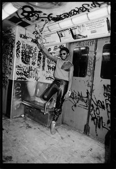 D.ST in NY Subway | Sophie Bramly. The Bronx is the home of hip hop!