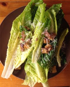 Classic Caesar salad topped with homemade croutons and freshly-grated Parmesan cheese.