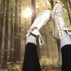 """Converse and trees"" #white #converse"