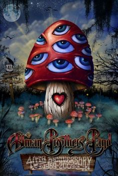 2009 The Allman Brothers Band 40th Anniversary 3D Lenticular Poster