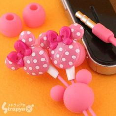 How cute and girly?  Especially for a Minnie mouse lover?  It even comes with a decoration on the cords! $27.90