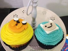 Post image for Adventure Time Cupcakes! Recipe! Instructions! Exclamation Marks!