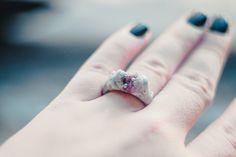 #rings #silver #crystal
