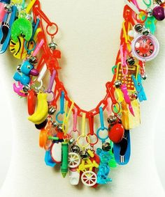 80's plastic charm necklaces - ❤️ these