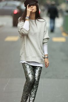 SEQUIN LEGGINGS - SHOP THE LOOK #howtochic #ootd #outfit
