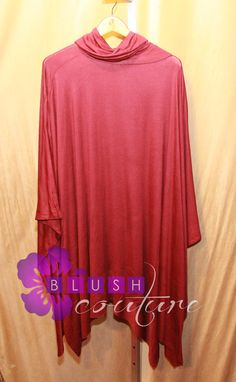Burgundy collared throw $59  (one size) slits on both sides Blush Couture Atlanta