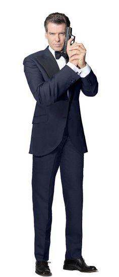 Amazon.com: PIERCE BROSNAN JAMES BOND 007 LIFESIZE CARDBOARD STANDUP STANDEE CUTOUT POSTER: Posters & Prints