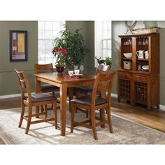 Klaussner Furniture Urban Craftsmen 5Piece Dining Set With Dining Stunning Klaussner Dining Room Furniture Decorating Inspiration