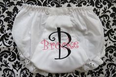 Personalized Bloomer/Diaper Cover #etsy #baby #babystyle #giftidea