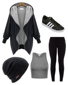 """Be Tight And Chill"" by krista-hollier on Polyvore featuring New Look, adidas and Coal"
